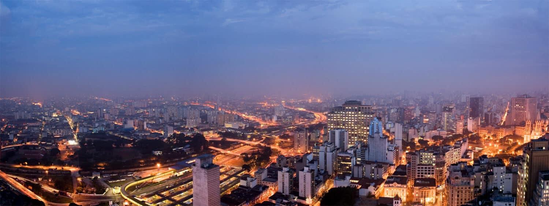 Horizonte de São Paulo, maior cidade do Brasil, ilustrando post de Airbnb em São Paulo