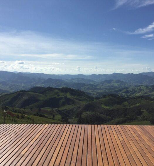 Vista do Chalé nas Nuvens, um dos Airbnb em São Bento do Sapucaí