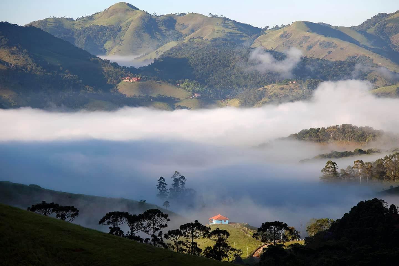 Vista de um dos Airbnb em São Francisco Xavier
