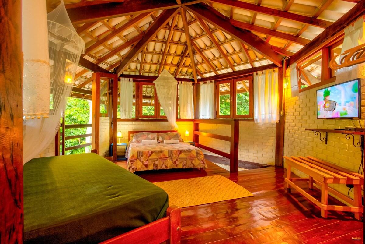 quarto do airbnb Casa Iaco em Itacaré
