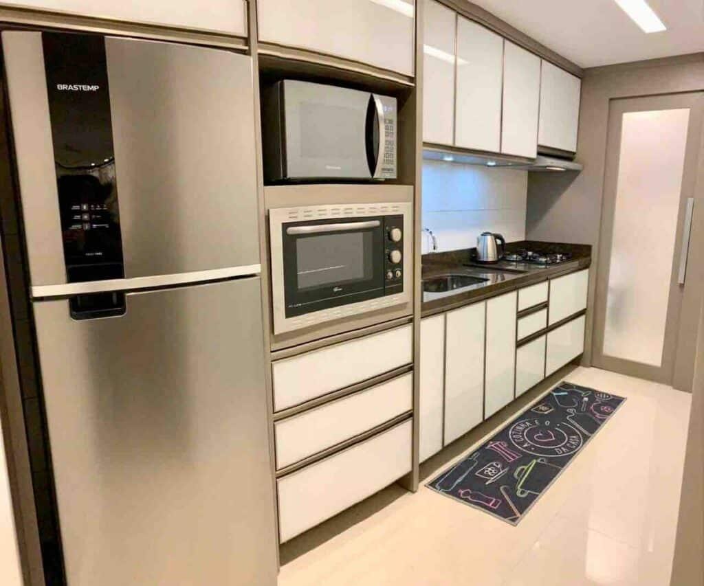 cozinha do airbnb Conforto no Centro de Gramado