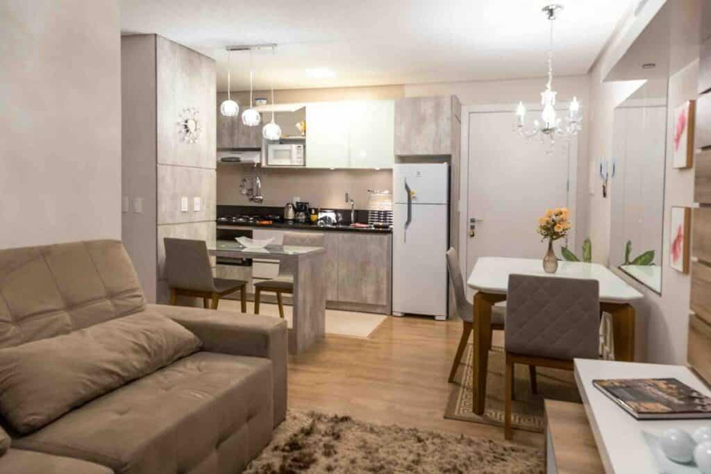 cozinha e copa do Novíssimo Apartamento na Vila Suíça