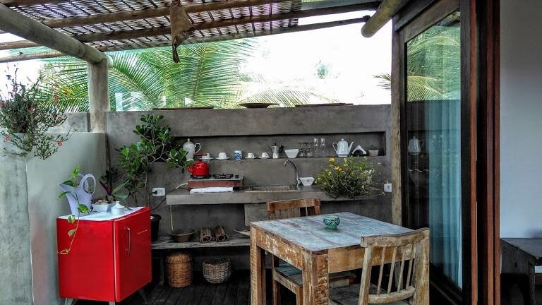 cozinha da Suíte Pé na Areia