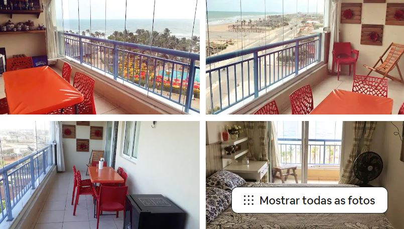 Um dos Airbnb em Fortaleza