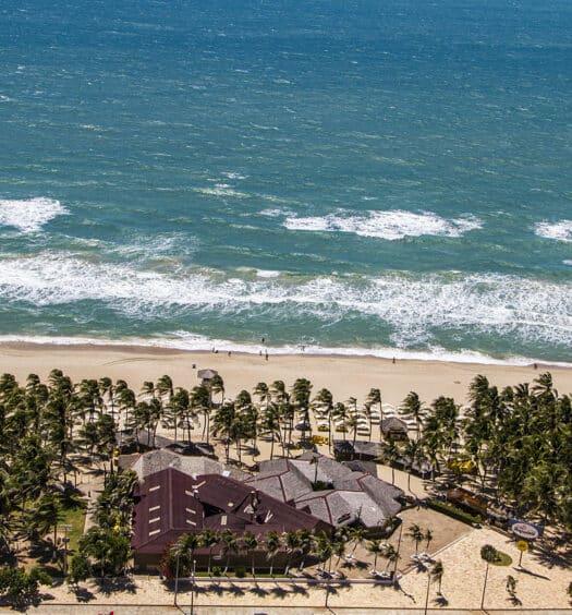 A Praia do Futuro, um dos lugares da capital cearense cheios de Airbnb em Fortaleza