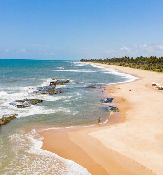 Praia Exclusiva da Casa de Alto Padrão na Costa do Sauipe