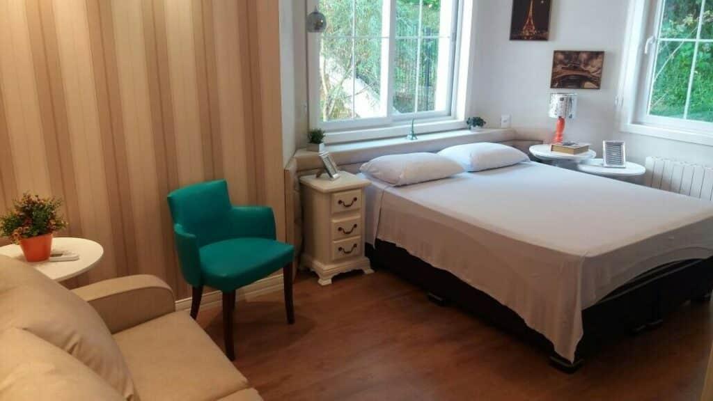 quarto do Apartamento de Luxo no Centro