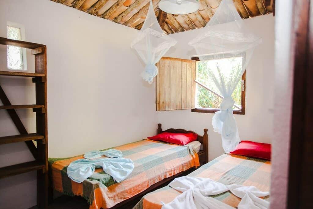 quarto do airbnb na Casa dos Cajueiros em Caraíva