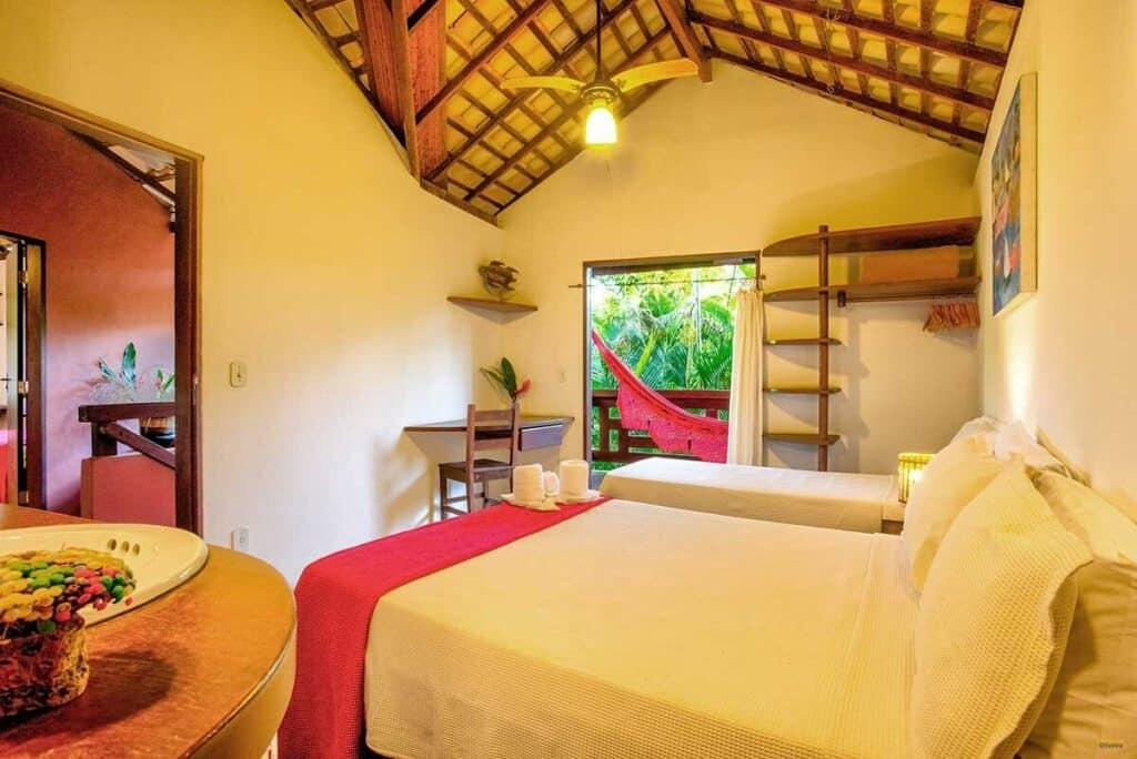 quarto da Casa Pitanga na Praia da Concha