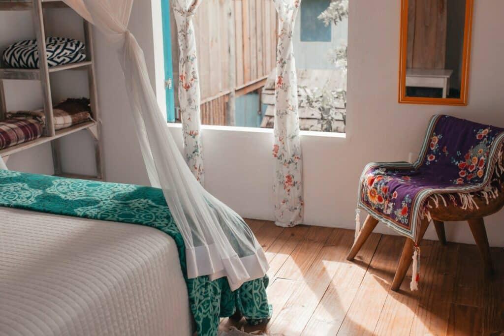 suíte do airbnb Charmosa Casa Eugenia