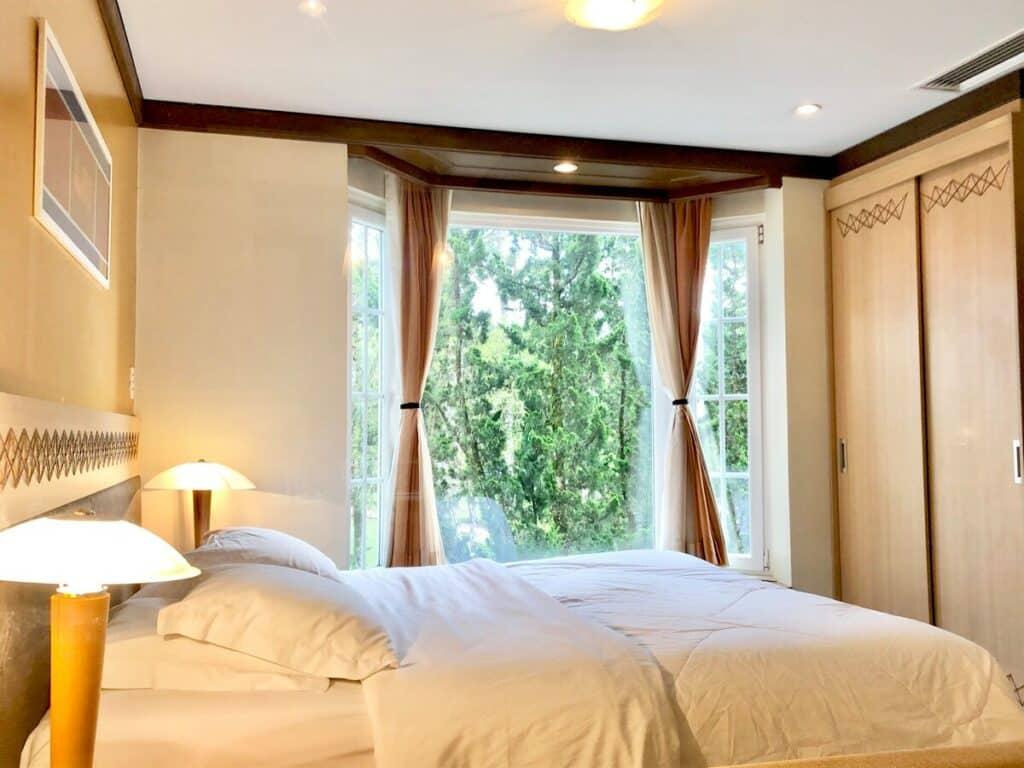 quarto do airbnb Luxo e Conforto no Flat Mountain Village em Canela