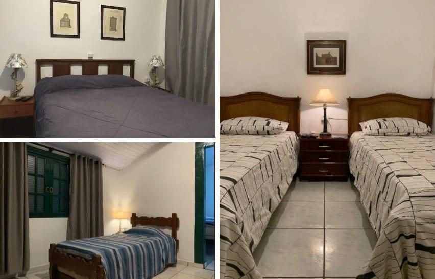 quartos do airbnb Fazendinha Orgânica Villa da Vida em Brotas