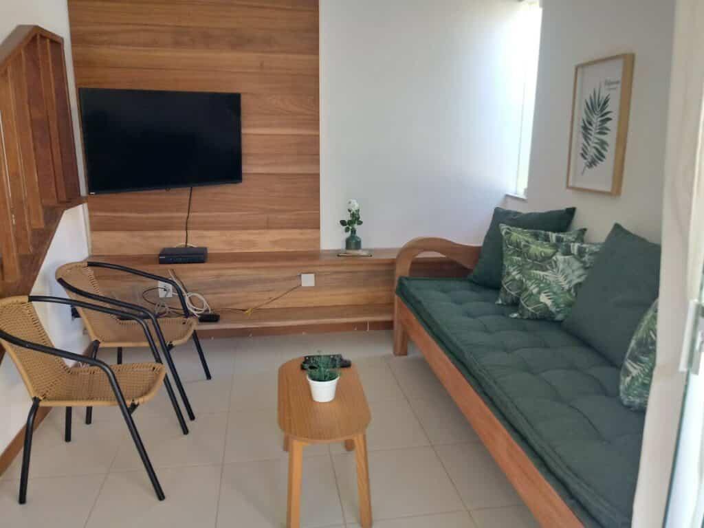 sala do airbnb Casa de Praia em Imbassaí