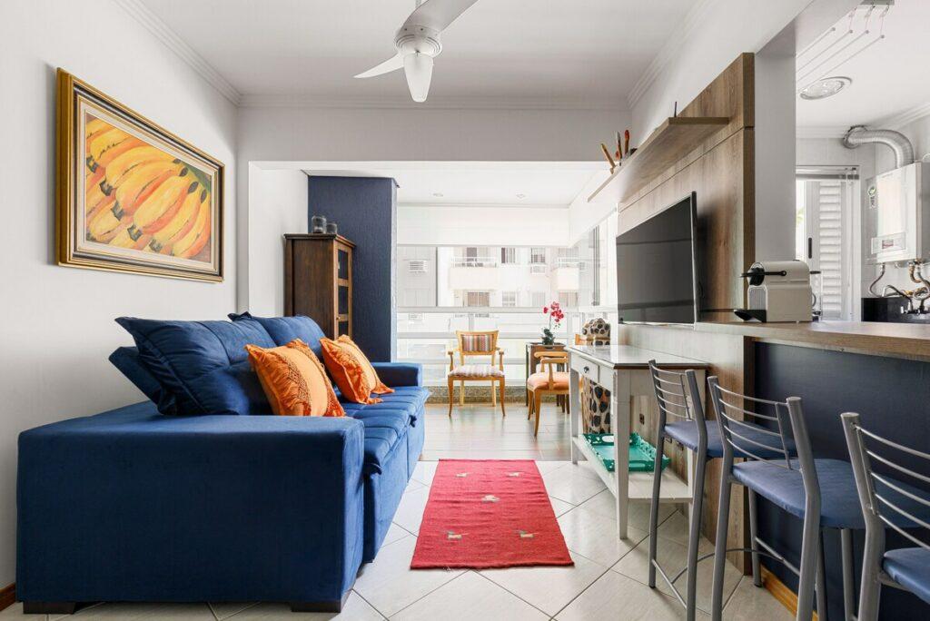 sala do Novo Apartamento Gourmet em Jurerê Internacional