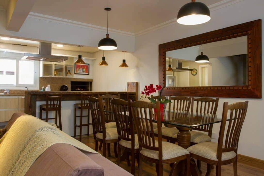 copa e cozinha do airbnb Triplex em Canela