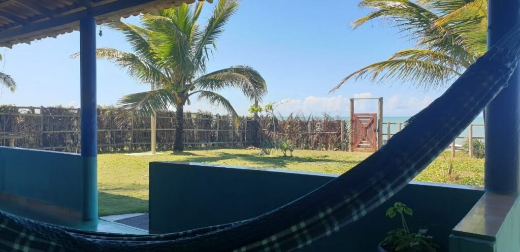vista da Casa Bahiana em Caraíva
