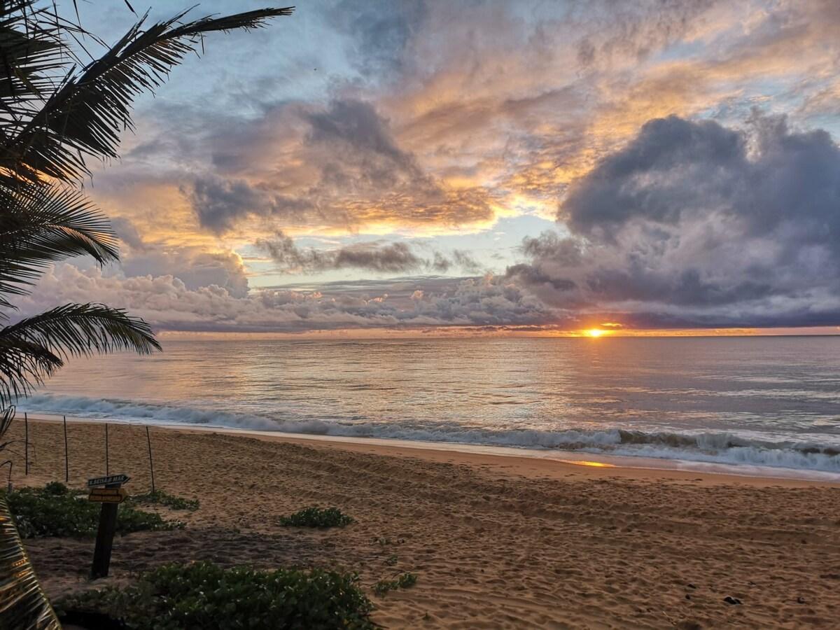 vista da praia de Caraíva do Bangalô Mamazoo