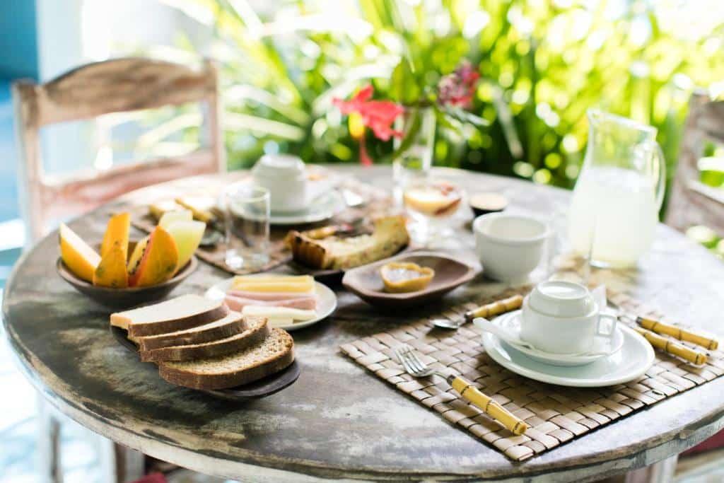 café da manhã na pousada caraíva