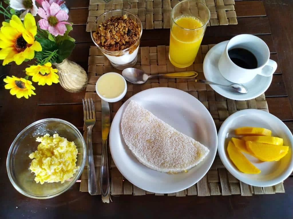 café da manhã da Pousada La Villa Caraiva