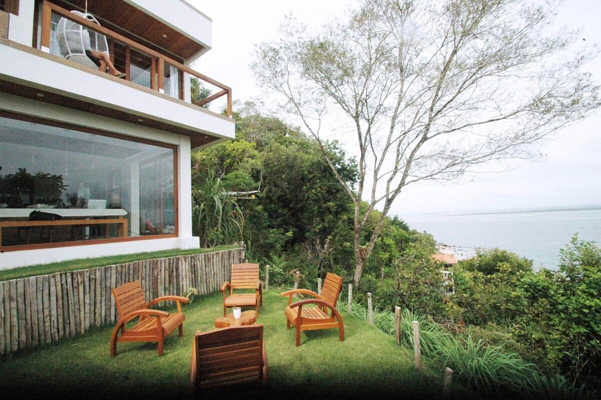 vista da excelente casa com maravilhosa vista do mar airbnb morro de sao paulo