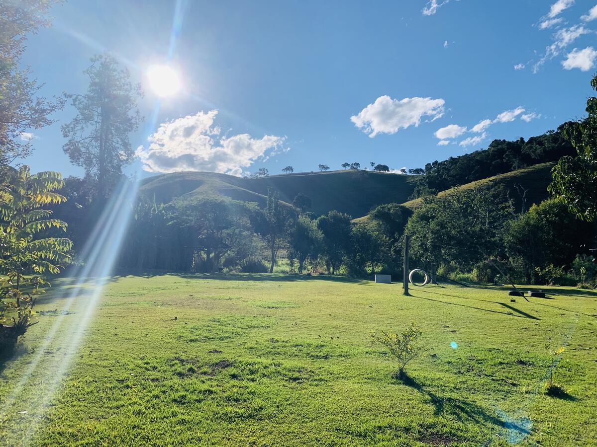 Vista das montanhas em uma das pousadas em Cunha