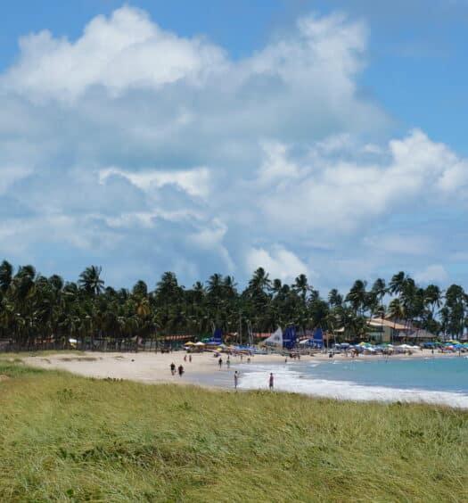 Mar do litoral de Pernambuco, no post de pousadas em Porto de Galinhas