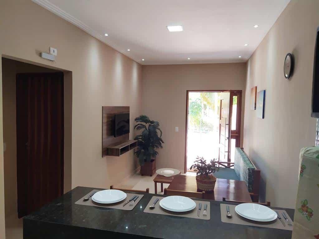 sala e cozinha da Maragogi Praia de Antunes Chale 2