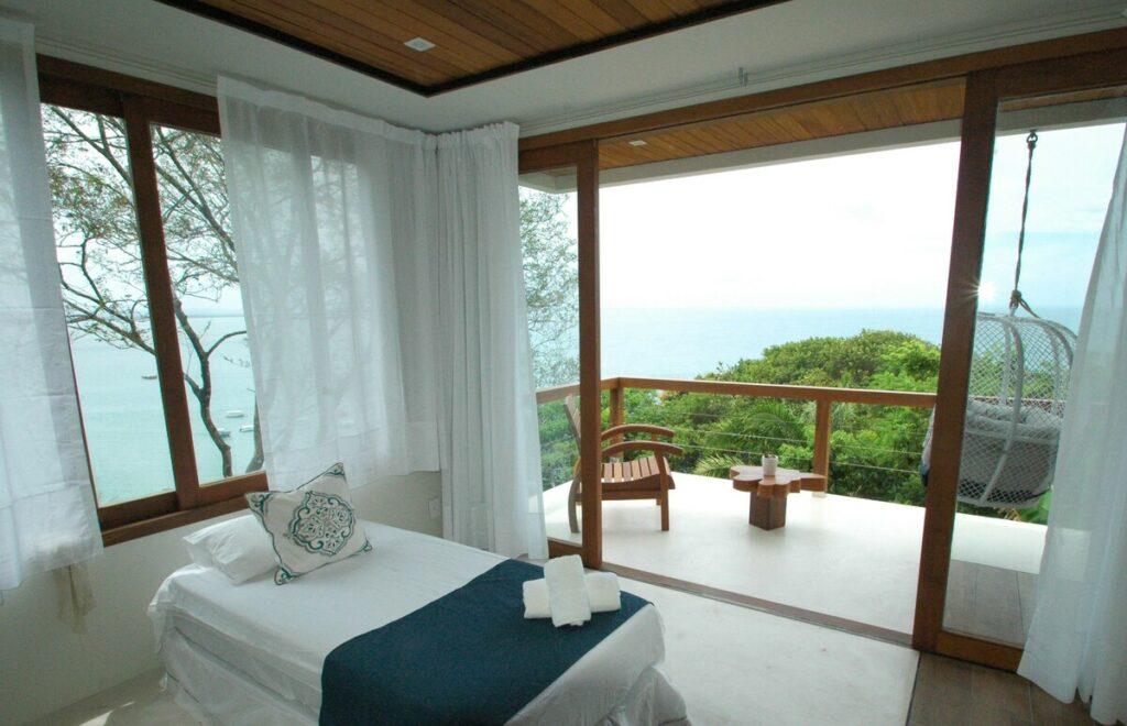 quarto do Excelente Casa com Maravilhosa Vista do Mar
