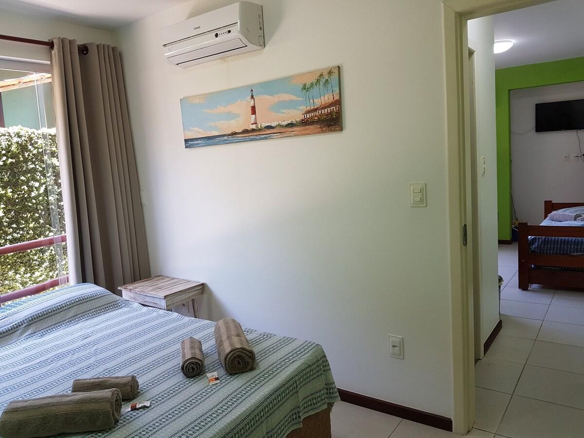 quarto do Flat Casa Marina