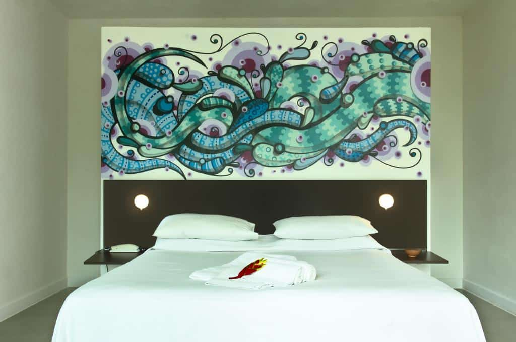 quarto da Villa dos Graffitis Pousada