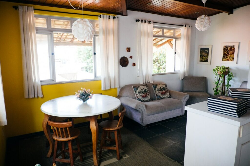 sala dos airbnb Confortáveis e Privativas em Aracaju