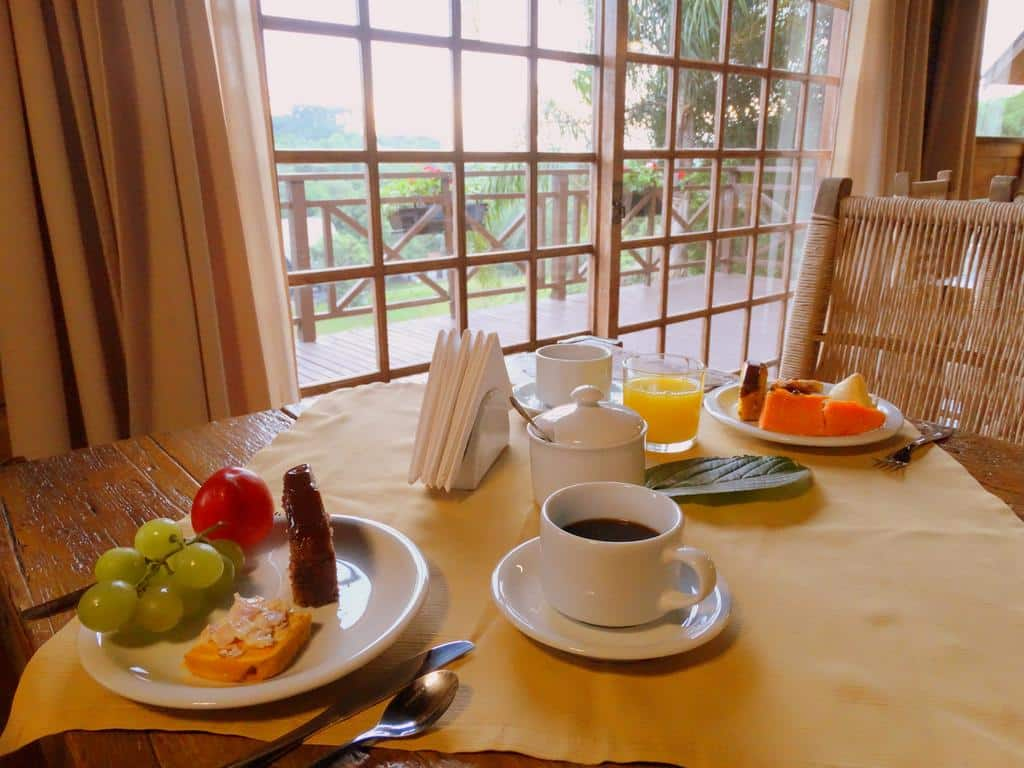 café da manhã da Pousada Chales da Montanha