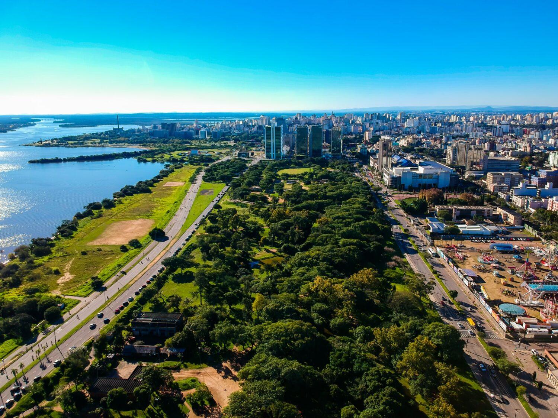 Vista aérea do Centro Histórico de Porto Alegre