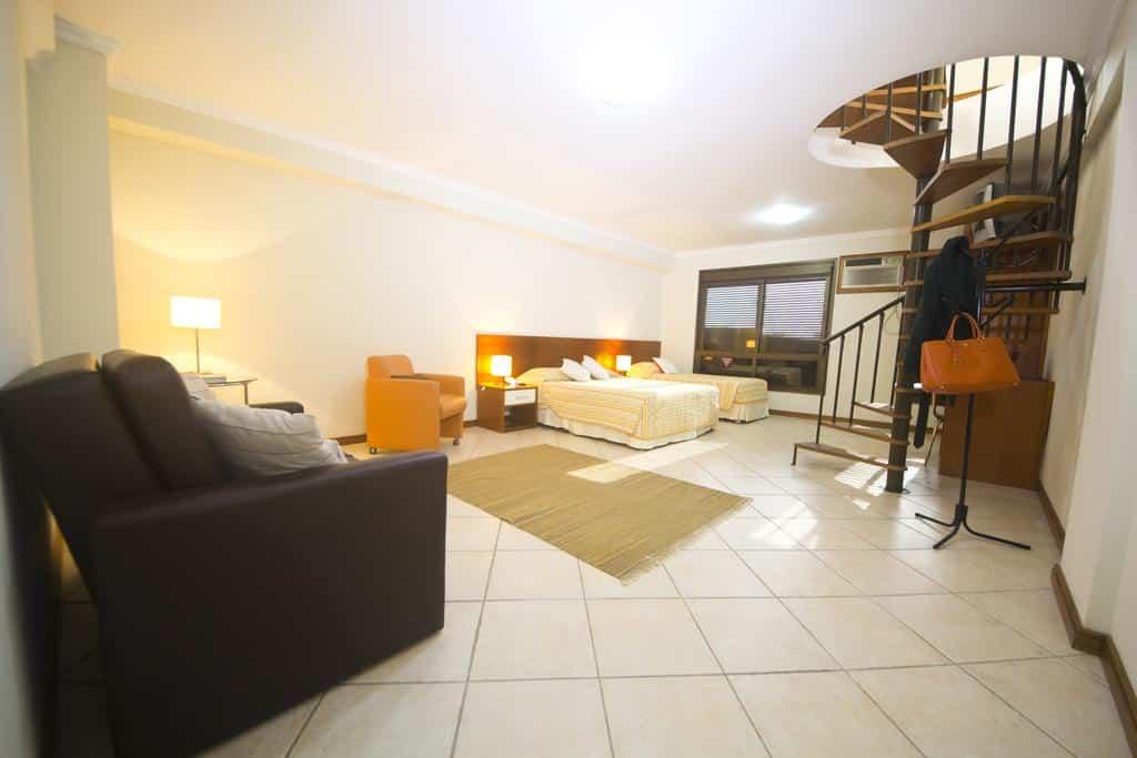 quarto do aluguel de temporada Edifício Metropolis em Porto Alegre