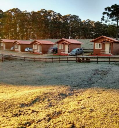 Cabanas do Sítio Rancho Crioulo, uma das pousadas em Urubici