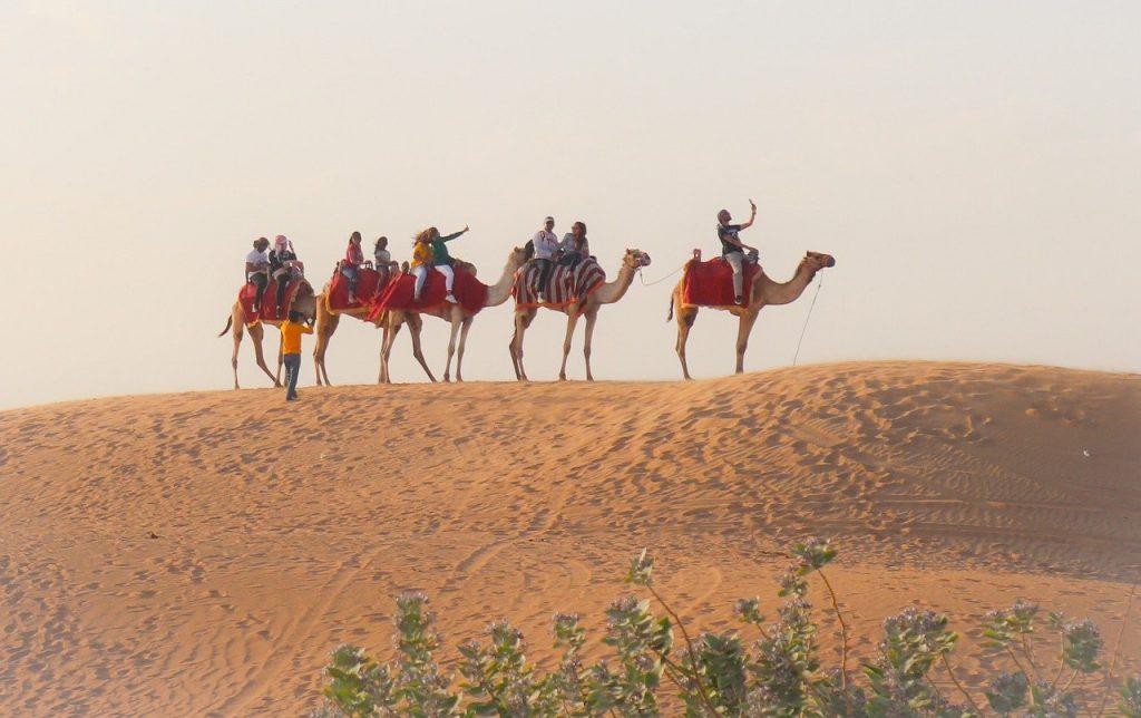 Um dos principais passeios de o que fazer em Dubai é o safári no deserto