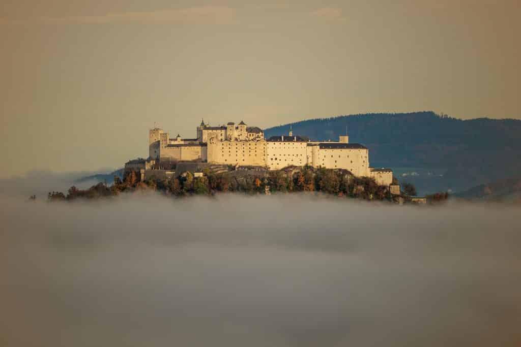 fortaleza de hohensalzburg nos pontos turisticos da austria