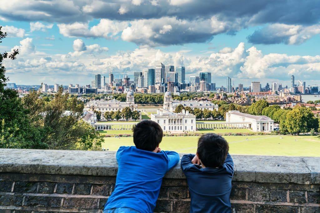 Vista da Grande Londres a partir de Greenwich