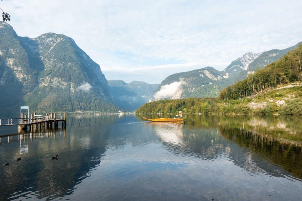 Hallstätter See nos pontos turisticos da austria