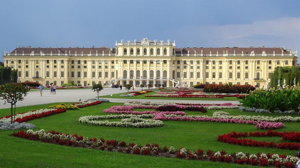 Palácio de Schönbrunn nos pontos turisticos da austria