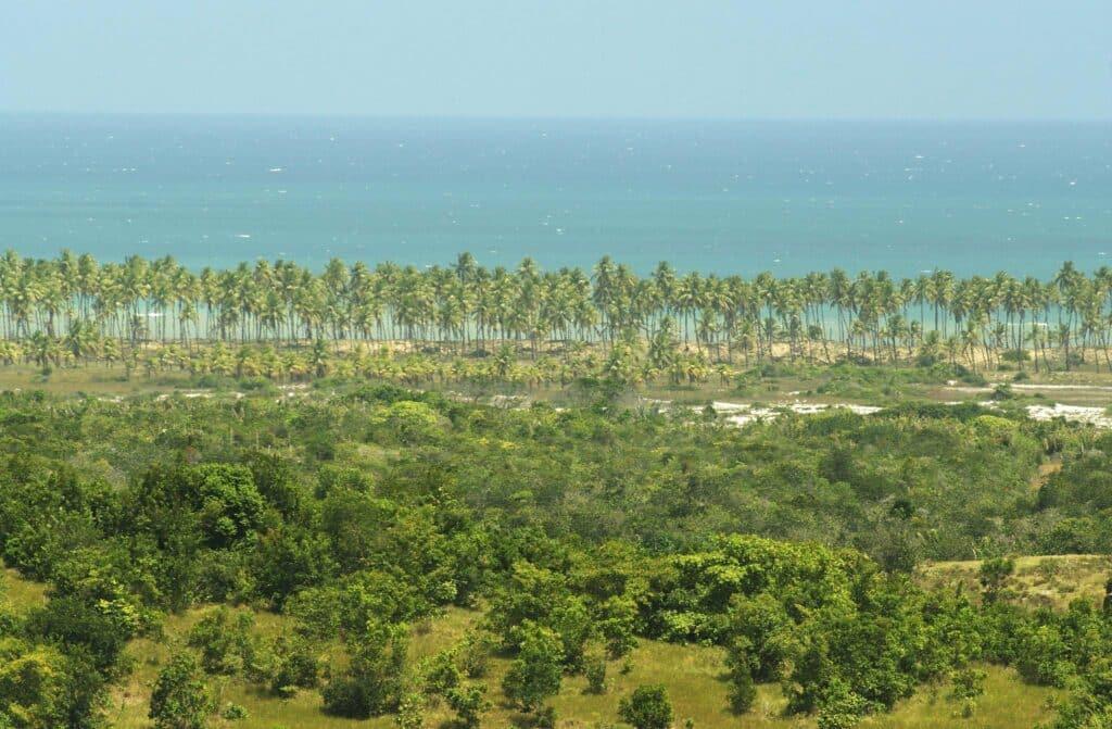 Praia de Imbassaí, um dos lugares para ir numa lua de mel na Bahia