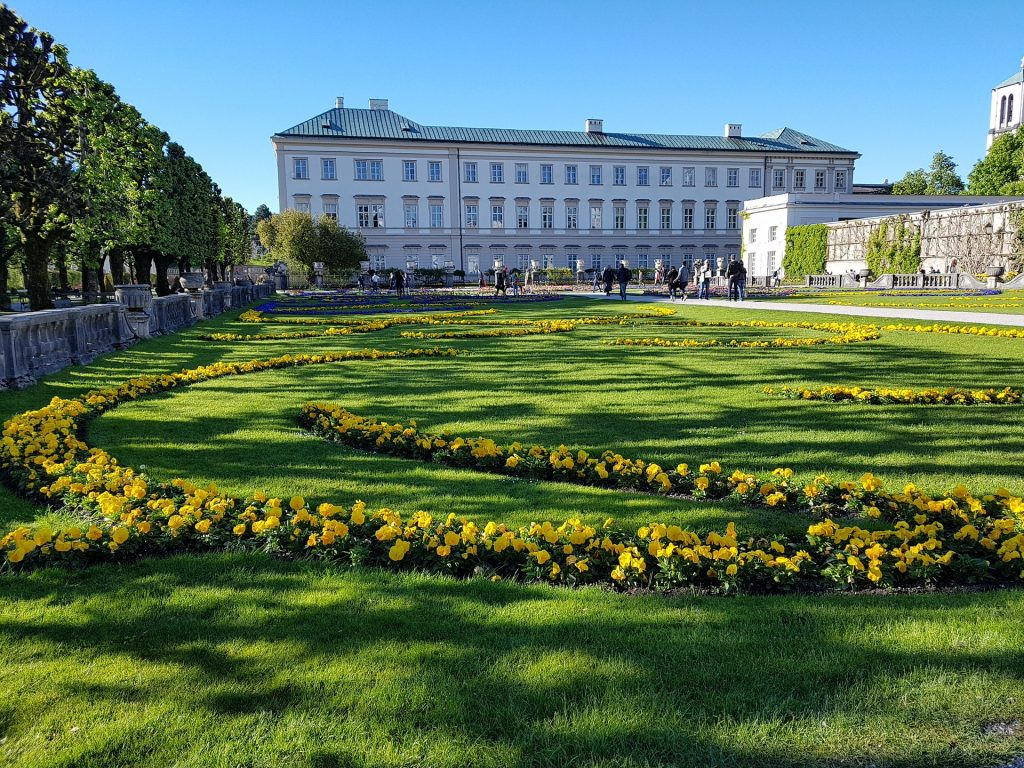 Schloss Mirabell nos pontos turisticos da Austria