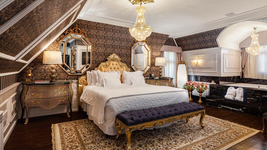 Suíte Noir do melhor hotel do mundo em Gramado - Colline de France