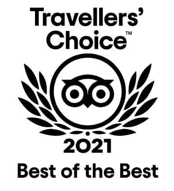 Logo do Tripadvisor Travellers Choice Awards em 2021