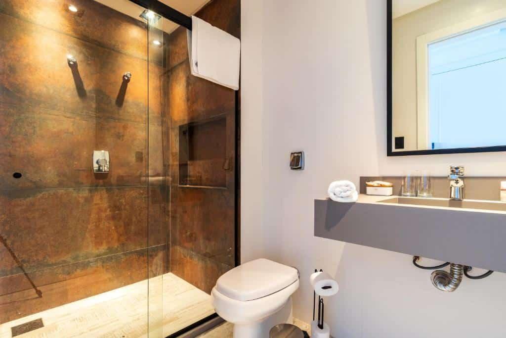banheiro da Baluarte Pousada