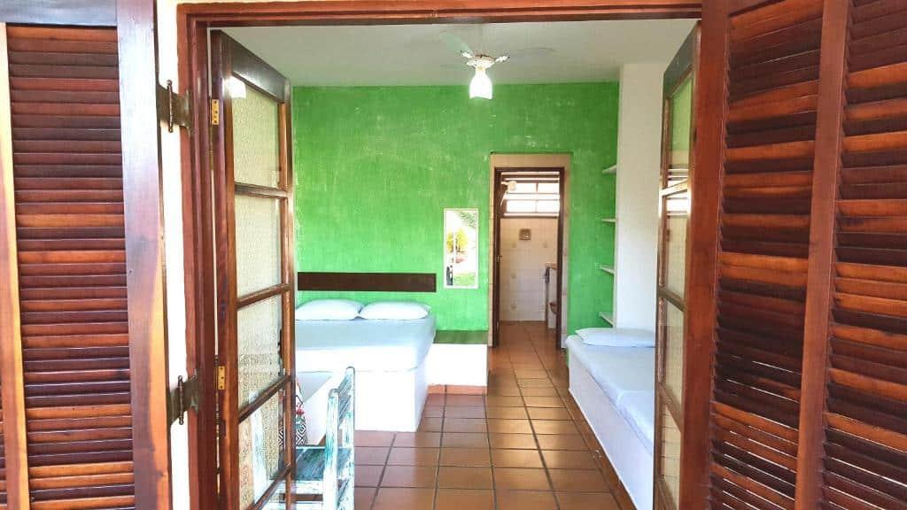 quarto do Chalé da Ju em Ubatuba