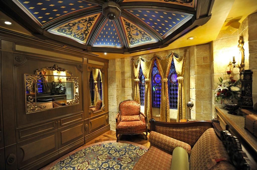 sala da suite de luxo cinderela