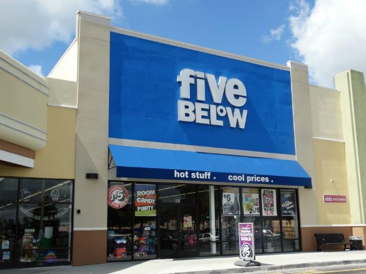 five below para compras em orlando
