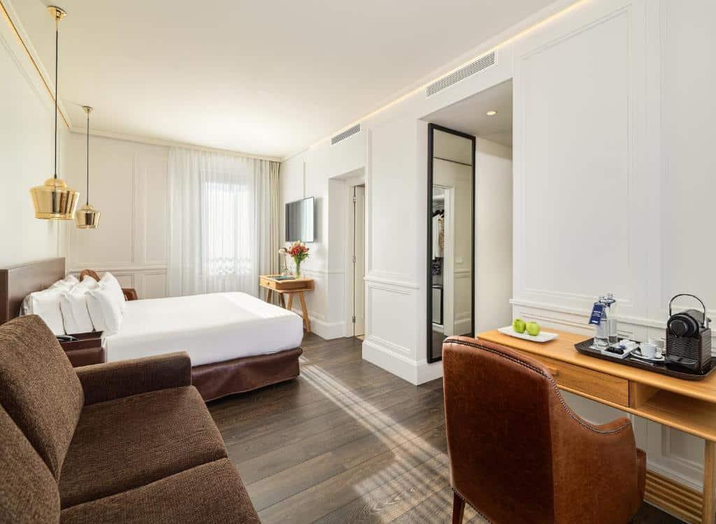 Um dos hotéis em Barcelona