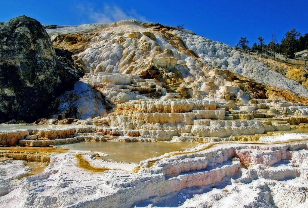 Mammoth Hot Springs no Yellowstone National Park